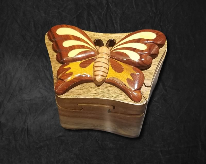 Butterfly Carved Jewelry Box