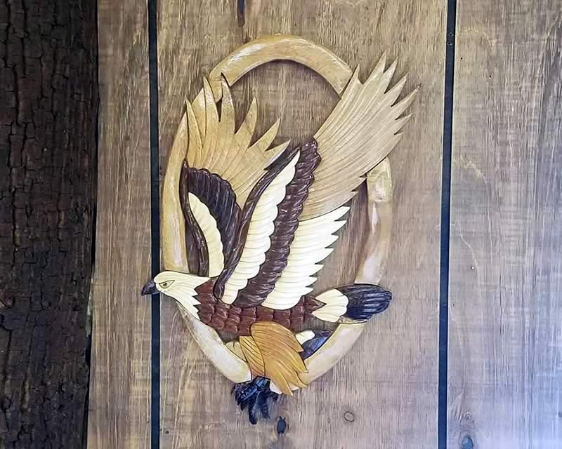 Eagle Carved Wall Art