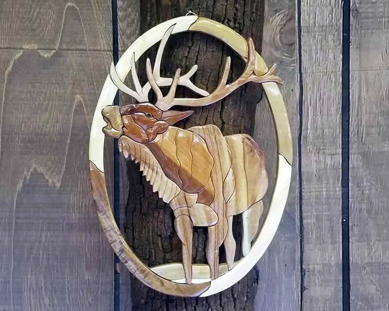 Elk Carved Wall Art