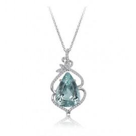 Pear Aquamarine Pendant