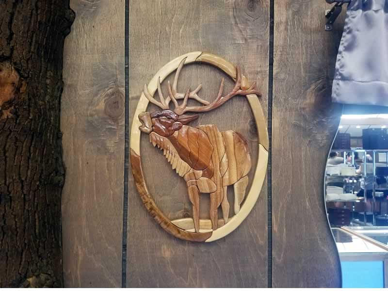 Elk Carved Wall Art