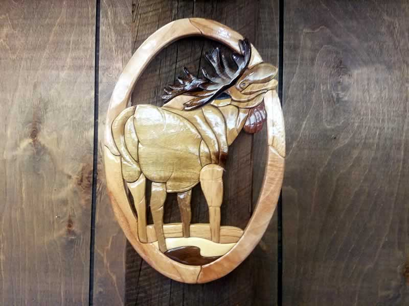 Carved Wall Art - Moose