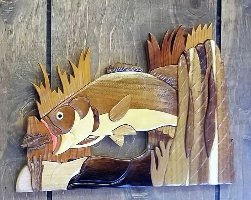 Bass Carved Wall Art