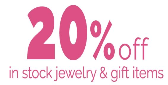 20% off in-stock jewelry & gift items